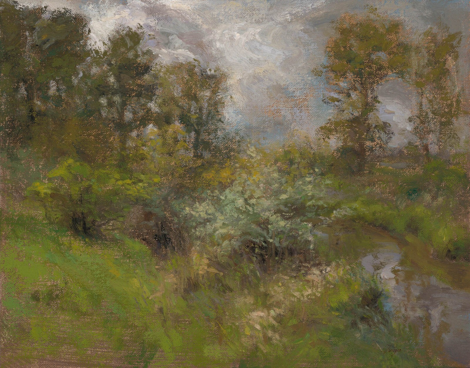 Liza Visagie - Early Spring. Oil on Linen 10 x 13.5 inches