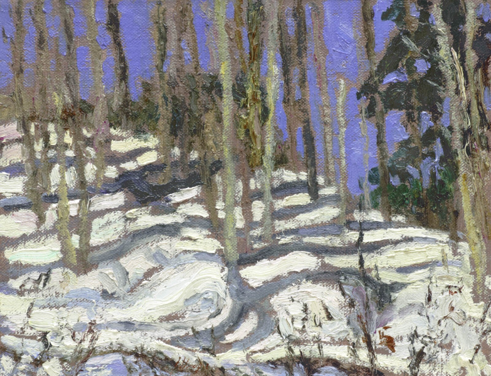 Liza Visagie - Winter's Hill. Oil on Linen 5.75 x 7.25 inches