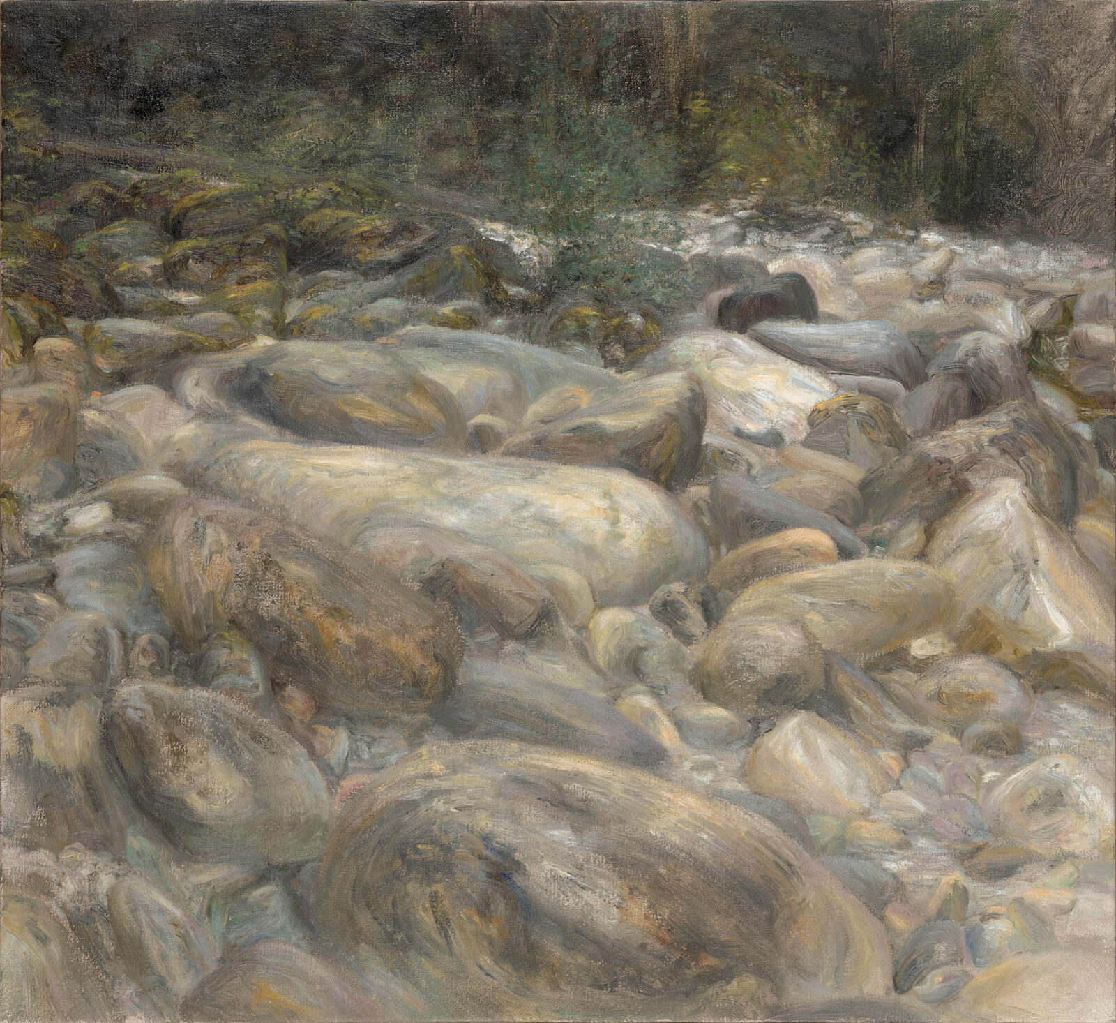 Liza Visagie - Boulders. Oil on Linen 22 x 24 inches