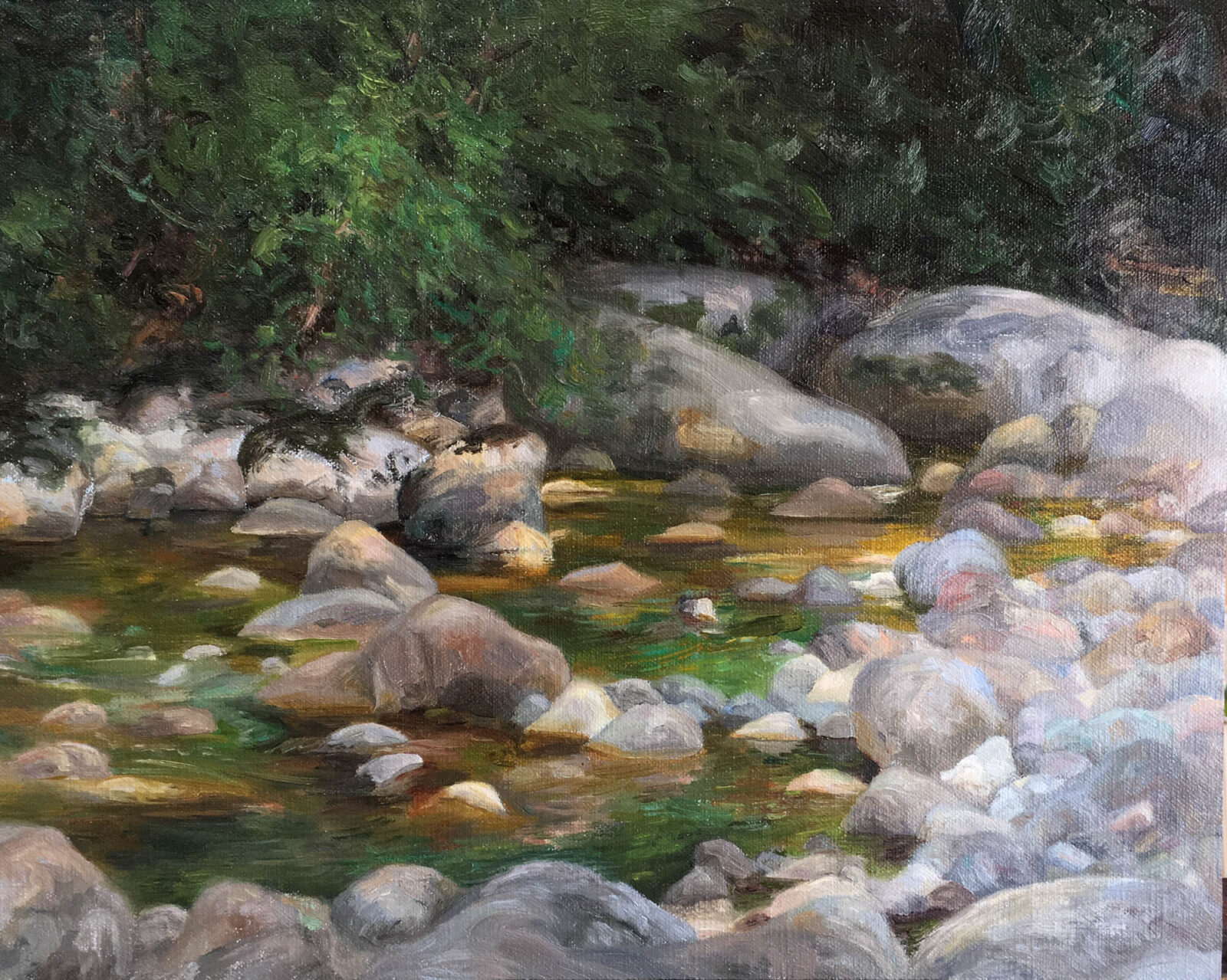Liza Visagie - River. Oil on Linen 10.5 x 13.5 inches