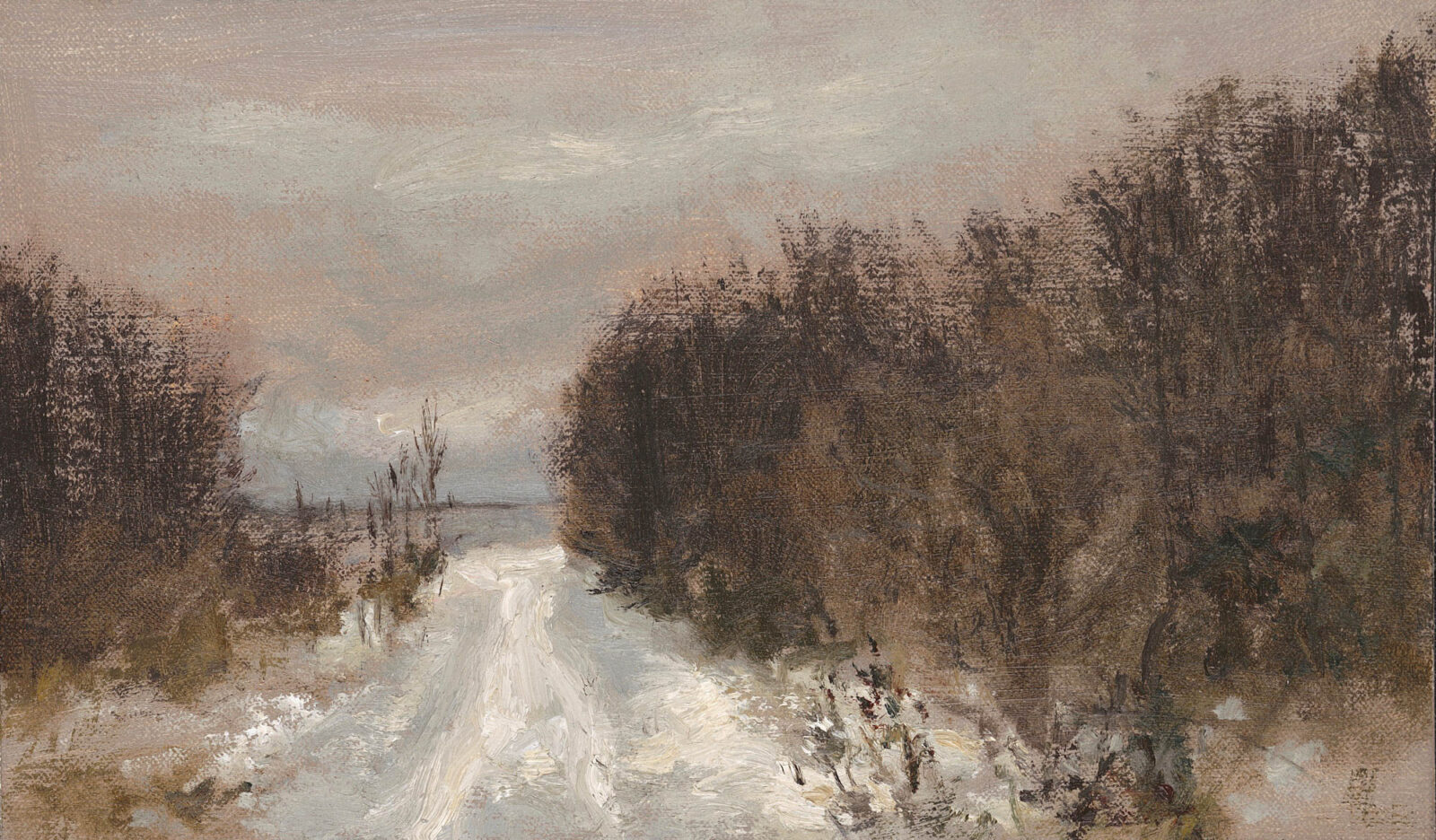 Liza Visagie - Winter's Path. Oil on Linen 7 x 9 inches