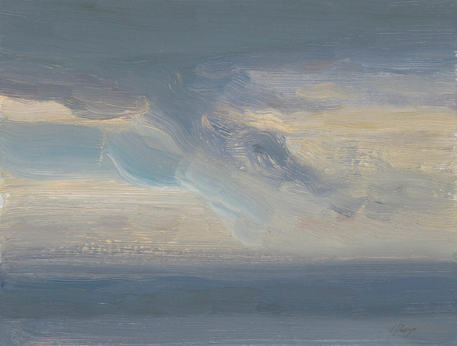 Liza Visagie - Ocean View. Oil on Linen 6 x 7.5 inches