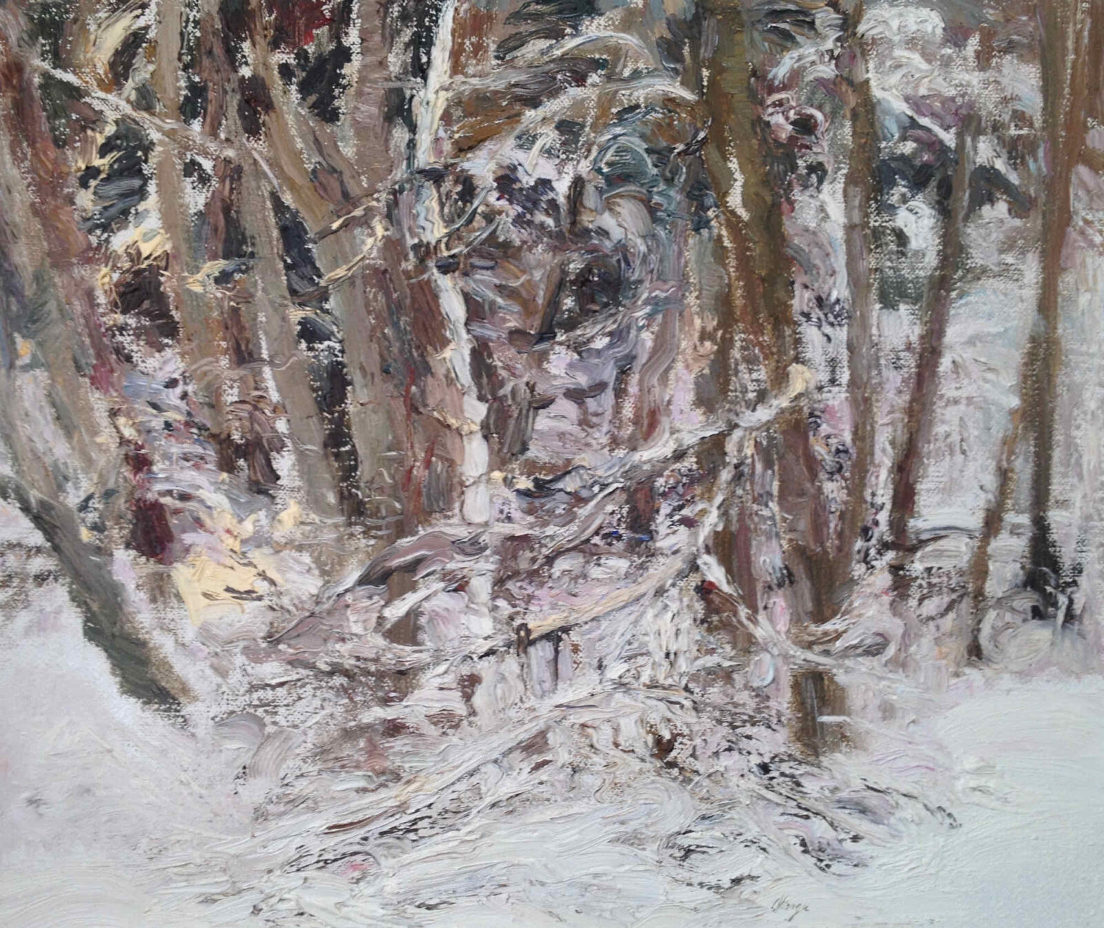 Liza Visagie - Winter Woods. Oil on Linen 9 x 11 inches